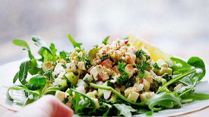 Рисовый салат с тофу
