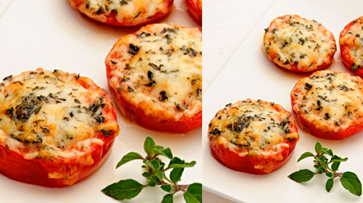 Запеченные с сыром помидоры