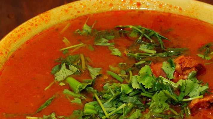 Вегетарианский суп-харчо