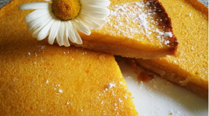 Постный апельсиновый пирог с отрубями