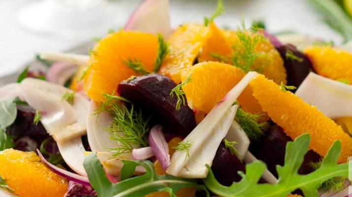 Салат со свеклой и фенхелем