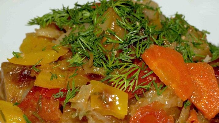Вегетарианское рагу «Вкуснятинка» — семейный рецепт
