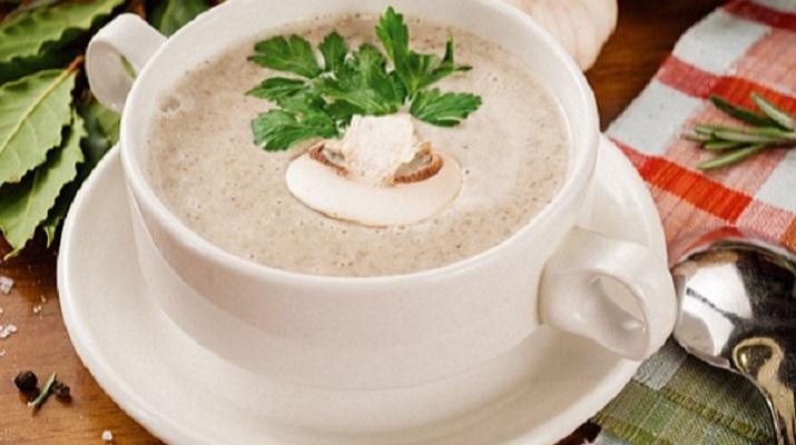 Вегетарианский крем-суп с грибами