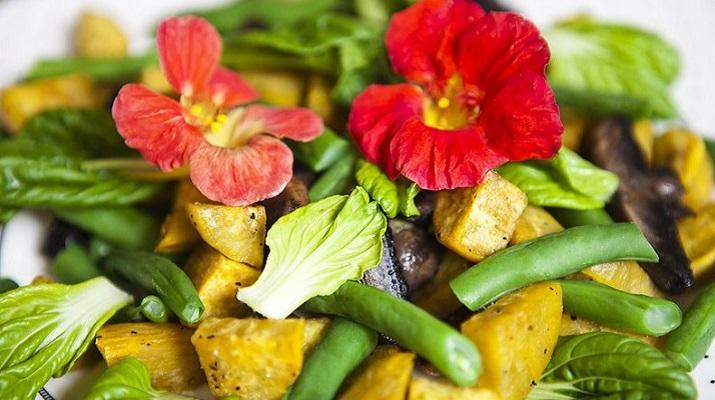 Теплый вегетарианский салат