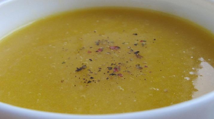 Вегетарианский суп-пюре с тыквой