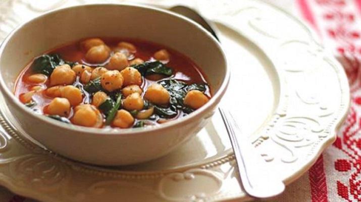 Вегетарианский суп из нута