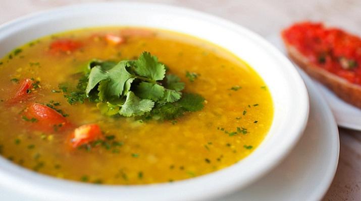 Вегетарианский чечевичный суп