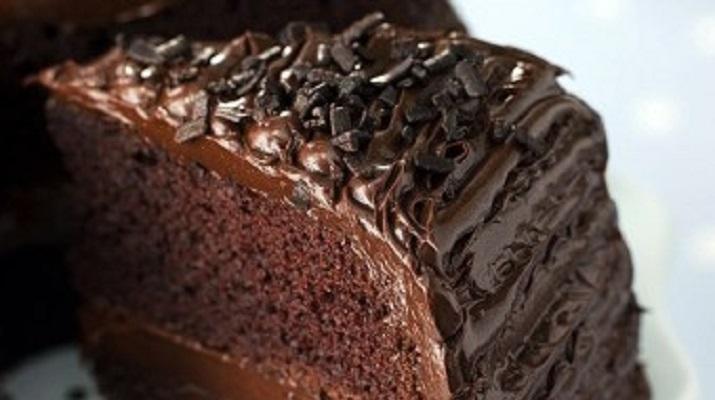 Нежный кэробовый торт