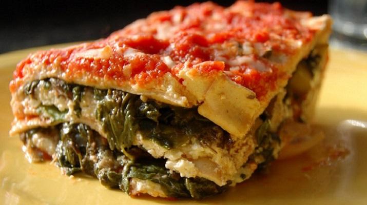 Итальянская лазанья «4 сыра» со шпинатом