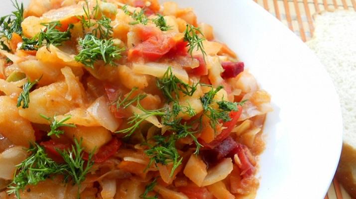 Овощное рагу вегетарианское из кабачков и капусты — дешево, вкусно, полезно!