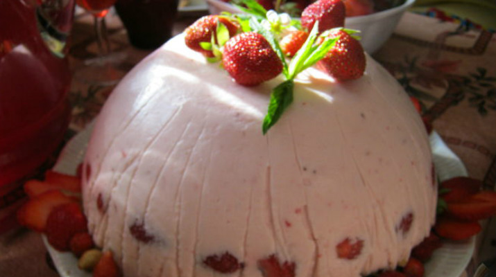 Торт творожно-йогуртовый, диетический