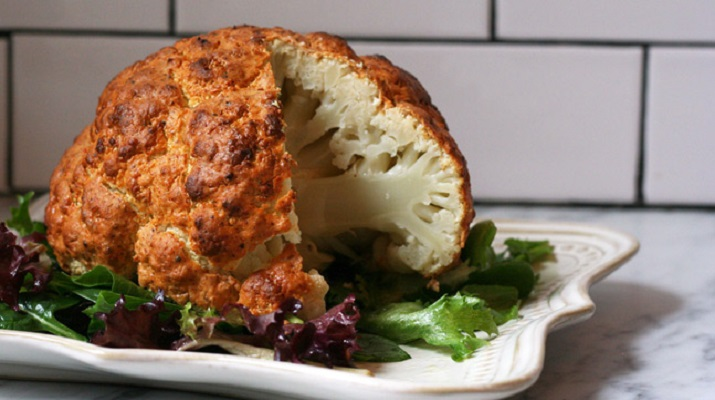 Рецепт запеченной цветной капусты в духовке с фото