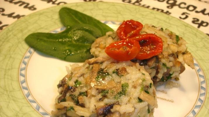 Рисовые котлеты со шпинатом