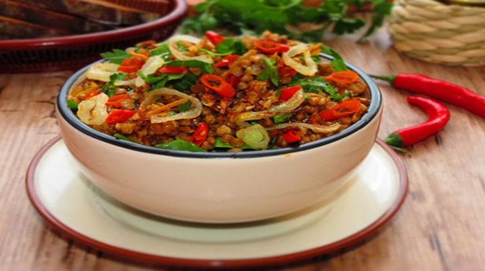 Ароматная гречка с овощами
