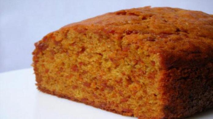 Постный морковный кекс в мультиварке