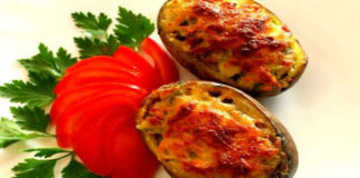 Картофельные тарелочки с грибами