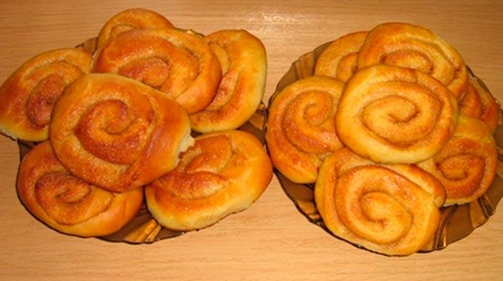Вкусные булочки с корицей без яиц