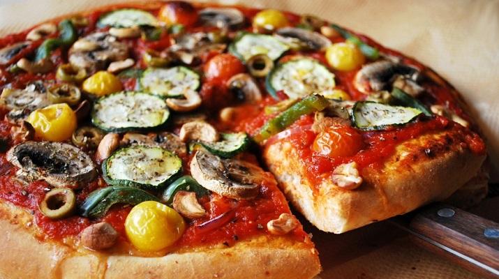 Тесто для вегетарианской пиццы