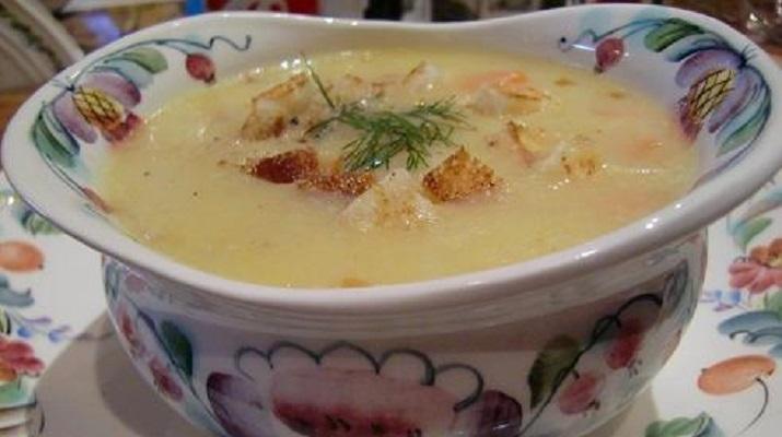 Суп на сыворотке с кукурузной мукой