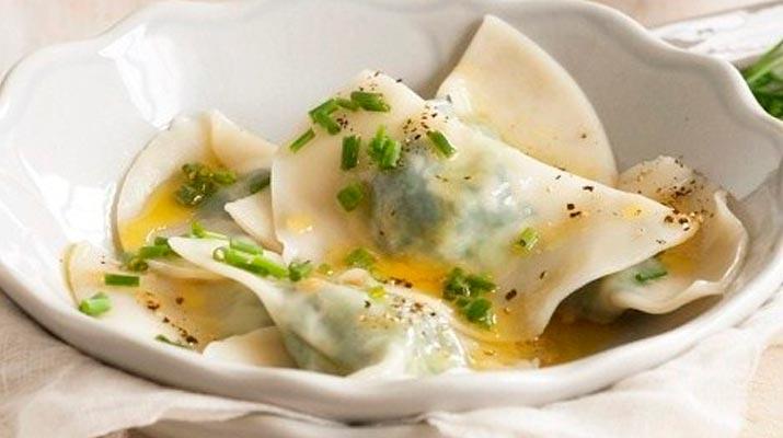Равиоли с сыром и шпинатом