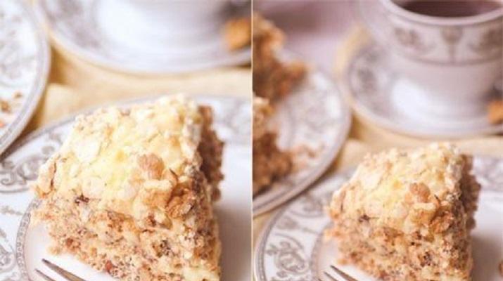 Ореховые пирожные с кремом