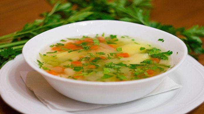 Рисовый суп постный