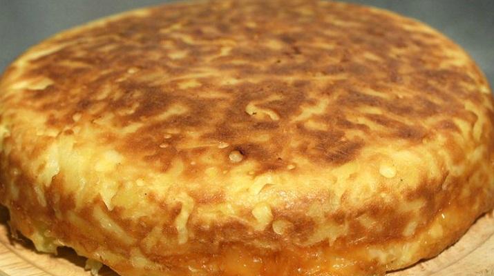 Пирог с картофелем на молоке