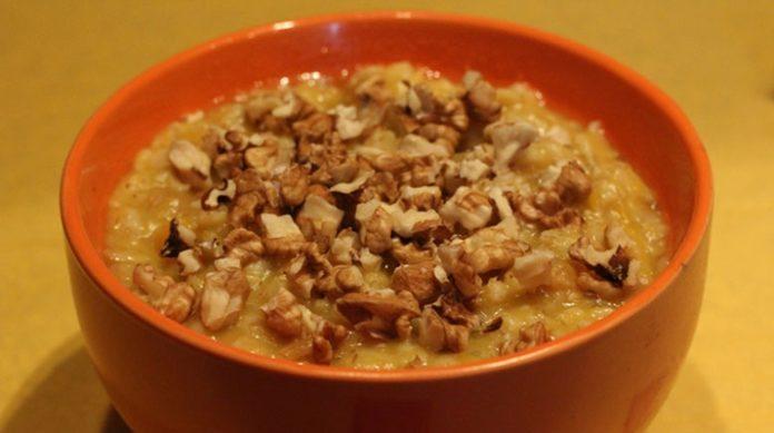 Вкусный и полезный завтрак — овсянка с тыквой