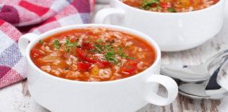 Удивительный томатный суп с чесноком