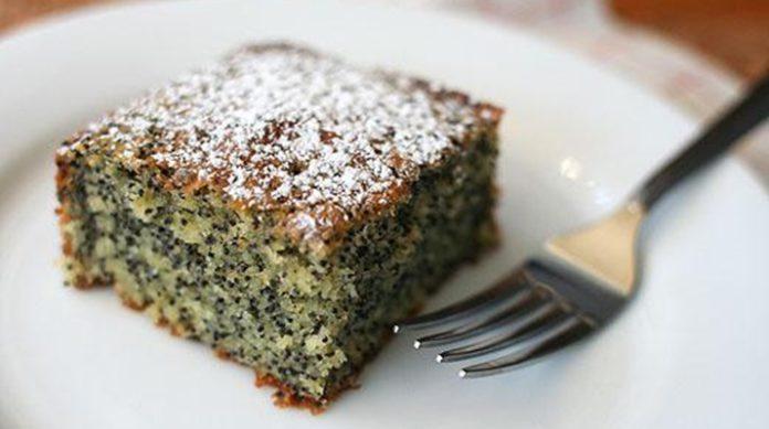 Кукурузный пирог с маком без яиц