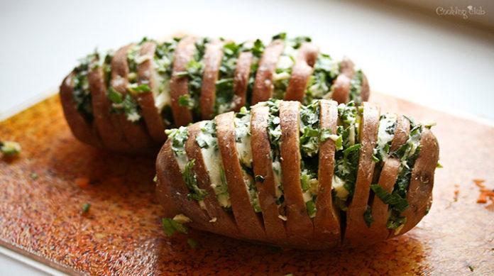 Картошечка с чесноком и зеленью