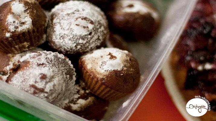 Кофейные кексы с шоколадной крошкой