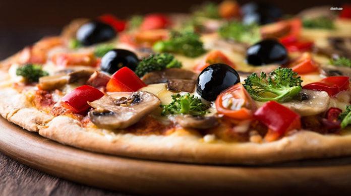 Пицца вегетарианская на сковороде