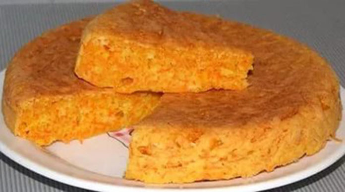 Морковный пирог за 30 минут