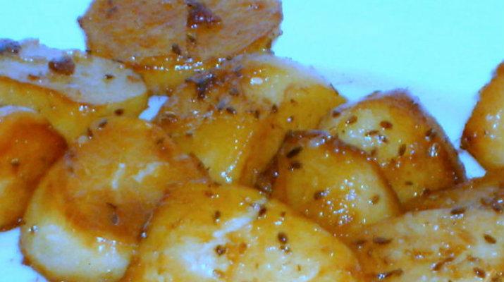 Картофель, «печенный» на сковороде, только вкуснее