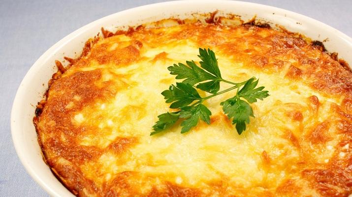 Картофельная запеканка с соей
