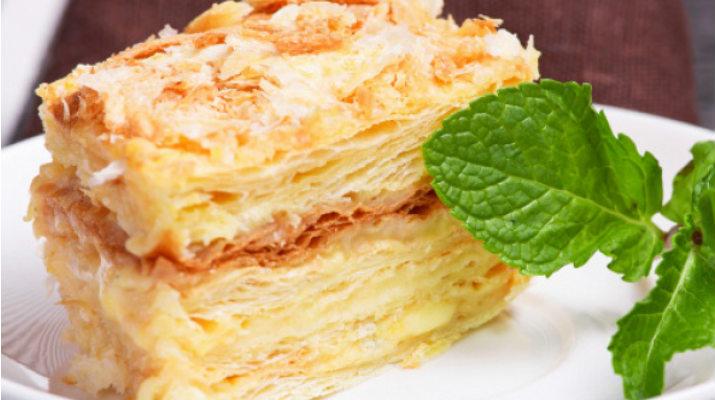 Слоеное пирожное «Наполеон»