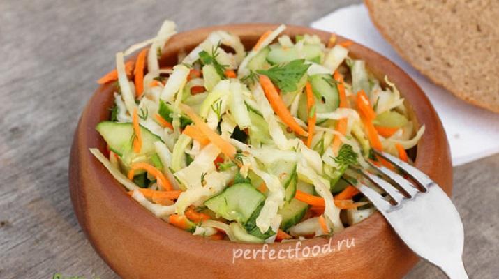 Салат из кабачков и капусты