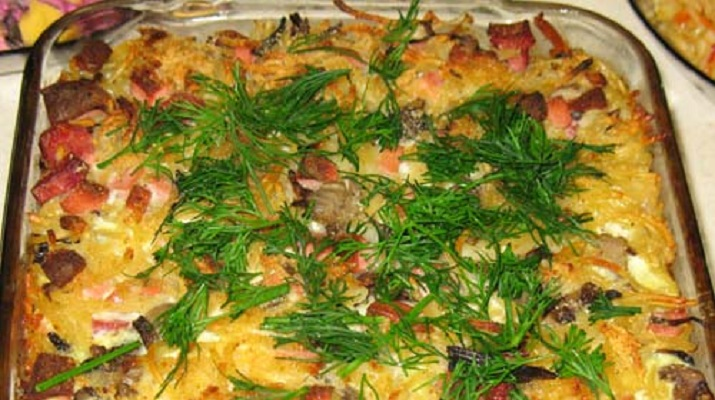 Запеканка с картофелем и макаронами