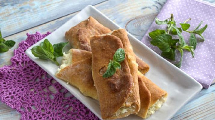 Бездрожжевые булочки с творогом (тесто на кефире)
