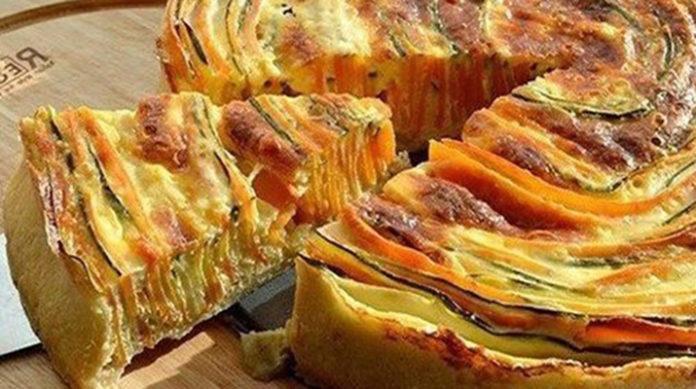 Пирог из кабачка и морковки