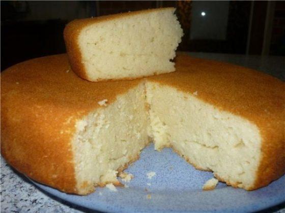 Торт на кефире и творога
