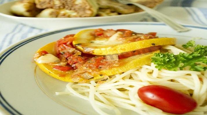 Итальянский салат с перловкой