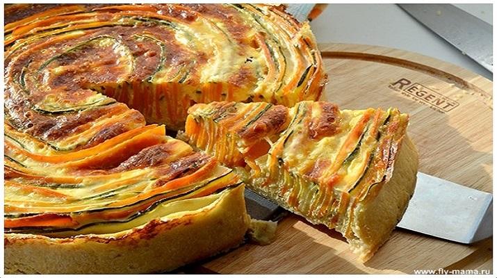 Пошаговый рецепт пирога с цукини и морковью