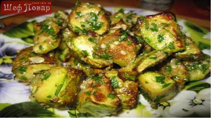 Салат с баклажаном и булгуром