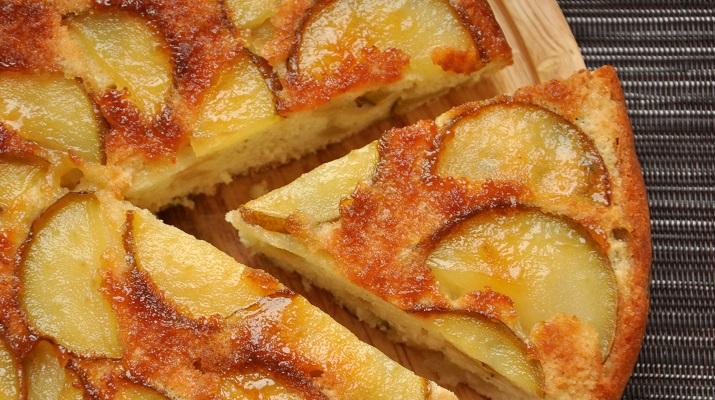 Творожный пирог с грушами в духовке