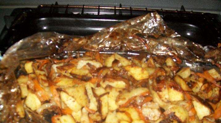 Жареная картошка Хозяйка отдыхает