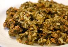 Рисовая лапша с креветками на сковороде WOK