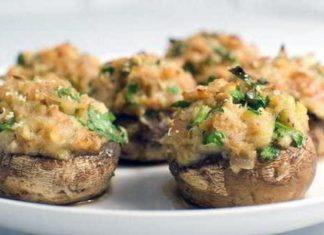 Рецепт вкусных фаршированных грибов