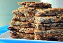 Фруктовые полосочки печенье